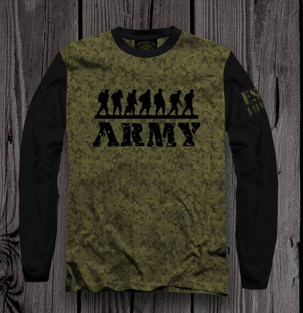 T-shirt 2018 ARMY1 appareluz